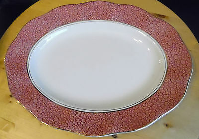 Wedgwood oval meat plate Pink Garden