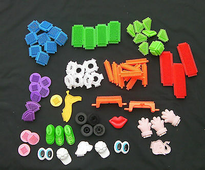 Stickle Bricks - Good Variety of 72 Pieces-some unusual