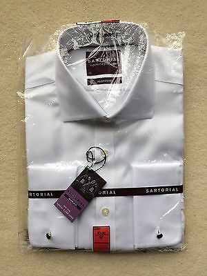 Marks and Spencer Sartorial Men's Shirt 16 Inch slim fit