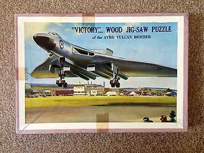 Vintage Victory Wooden Jigsaw Puzzle 'Avro Vulcan Bomber'