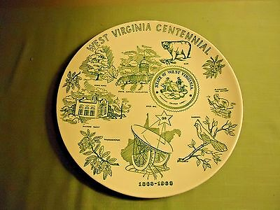 West Virginia Centennial 1863-1963 Souvenir (Knowles) Plate