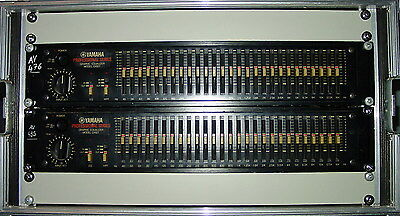"Yamaha Q1027 Graphic Equalizer (2 pcs in 19"" Flight-Case)"