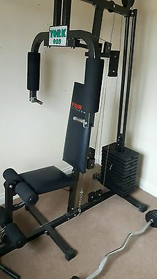 york multi gym and various weights