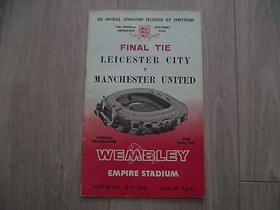1962-63 Leicester City v Manchester United  FA Cup Final