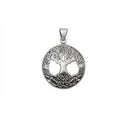 Celtic TREE OF LIFE-Pendant/Necklace-Solid 925 sterling silver-37mm-Chain option