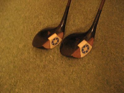 Two immaculate vintage 1930's  fancy faced matched golf clubs. Look.