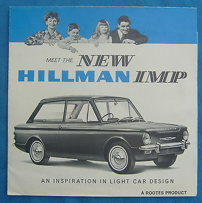 Meet The New Hillman Imp Fold Out Sales Brochure Free P&P to UK
