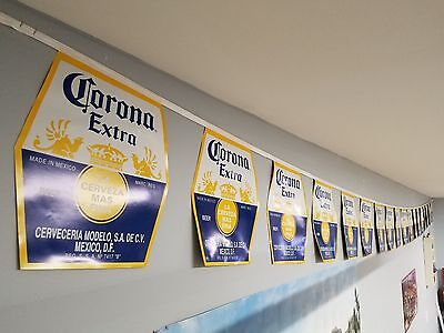 Corona Extra Beer Party String Banner Flag Cerveza 23' Long Excellent Condtion!