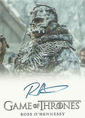 "Game of Thrones Season 5 - Ross O'Hennessy ""Lord of Bones"" Autograph Card"