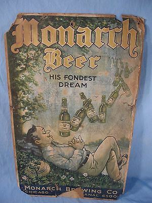 Rare Monarch Beer Advertising Sign
