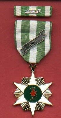 One Full size Vietnam Campaign Award medal with ribbon bar with 60 device