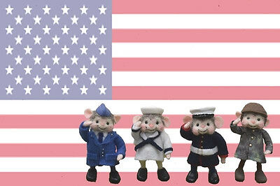 """Needle Felted """"Military Mice"""" One Of A Kind!"""
