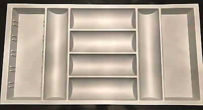 B&Q 8 Compartment Kitchen Drawer Cutlery Insert Tray Grey Plastic 900mm Base