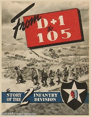 10 Postcard Lot - Cover of 2nd Infantry Division's Stars & Stripes Unit History