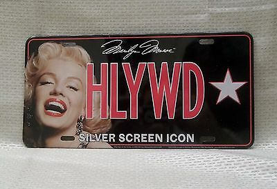 Marilyn Monroe HLYWD Silver Screen Icon Metal License Plate