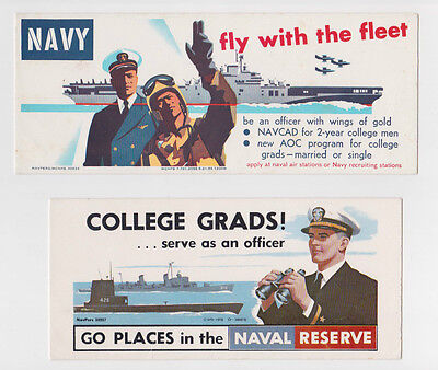 1955 & 1956 United States Navy & Naval Reserve Blotters