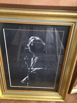 original oil painting of rock star and musician Eric Clapton