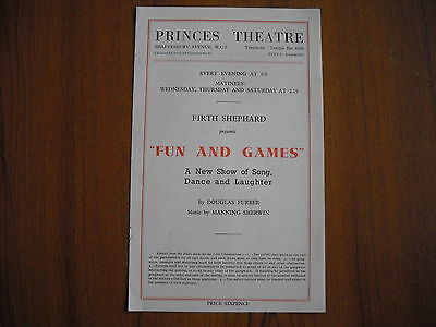 Princes Theatre, London - Fun And Games - 1941