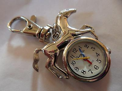 Silver Horse Keyring Watch (M9)NEW BATTERY BEFORE POSTING FREE P&P