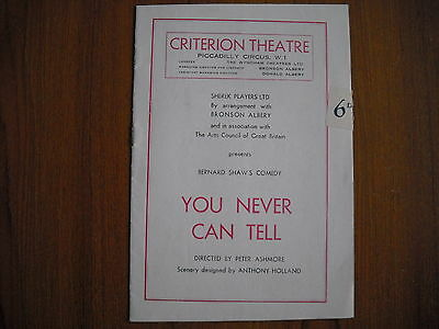 CRITERION THEATRE, LONDON - YOU NEVER CAN TELL - 1950's