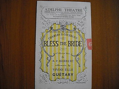 Adelphi Theatre, London - Bless The Bride - 1947