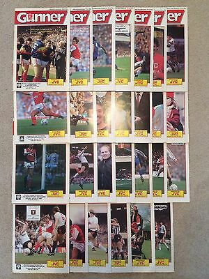 1987/1988 Arsenal Complete Home Progs 27 GC Collection - No TC's