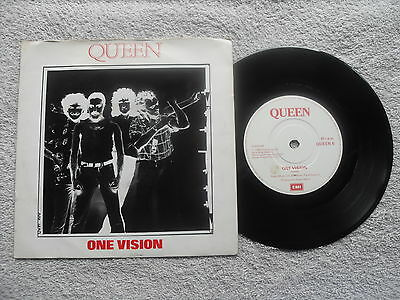 """QUEEN ONE VISION EMI RECORDS UK 7"""" VINYL SINGLE in PICTURE SLEEVE - BRIAN MAY"""