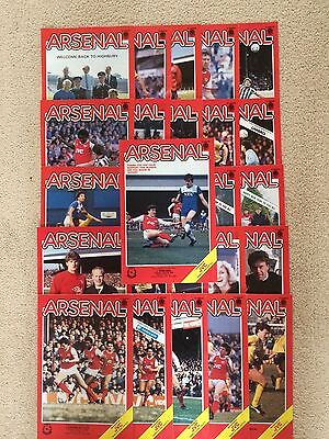 1985/86 Arsenal Complete Home Progs 26 Collection