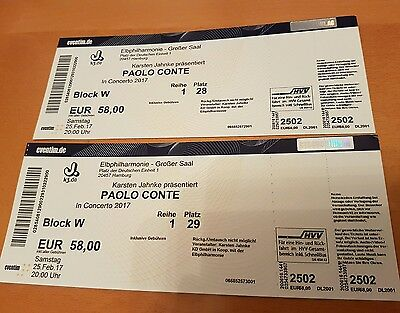2 tickets paolo conte elbphilharmonie hamburg. Black Bedroom Furniture Sets. Home Design Ideas