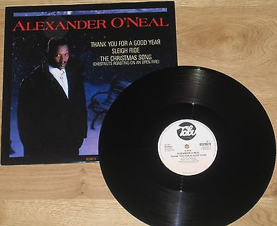 "Alexander O'neal 12"" Thank You For A Good Year + Christmas Song + Sleigh Ride"