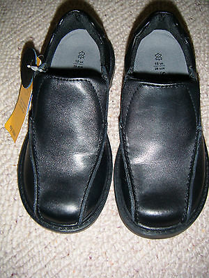 New M/S Boys Leather Black School  Shoes Size 1