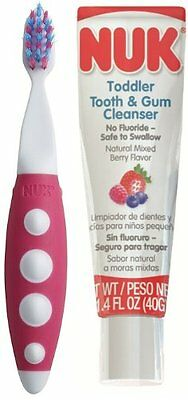 NUK 93124 Toddler Tooth and Gum Cleanser, 1.4 Ounce - Color May Vary