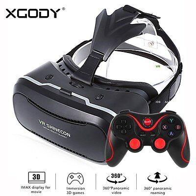 3D Virtual Reality VR Shinecon Glasses Headset for iPhone 7 Samsung S7 Nexus HTC