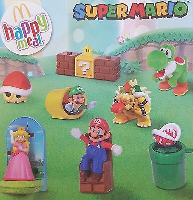 Complete Set Of 8 Mcdonalds 2016 Super Mario Characters Brand New In Packets