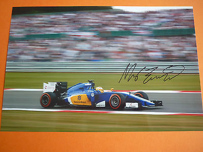 Formula 1 Marcus Ericsson hand signed photo 12x8 COA