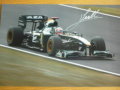 Formula 1 Jarno Trulli hand signed photo 12x8 COA