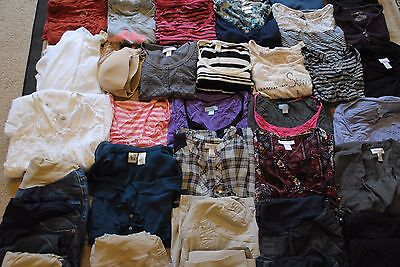 50+ Items Maternity Clothes Lot - Winter through Summer Sz M