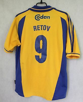 Denmark Brondby IF RETOV #9 Home Football Shirt Jersey 2000 / 2002 sz S  (047)