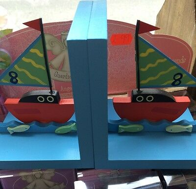 Boat Bookends Brand New Seaside Beach Decor Bedroom