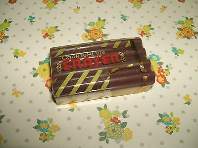 Rare Vintage 1980s Cookie Style Chocolate Bar Japanese eraser rubber gomme