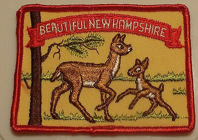 """Vintage """"beautiful New Hampshire"""" Embroidered  Patch"""