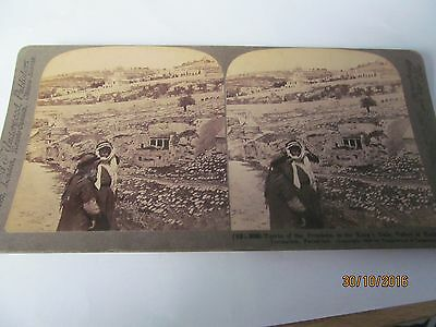 Antique Stereoview Tombs Of The Prohets Kings Dale Kedron Jerusalem Dated 1908