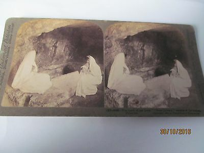 Antique Stereoview  The Tomb Of Our Lord  New Cavalry Jerusalem Dated 1904