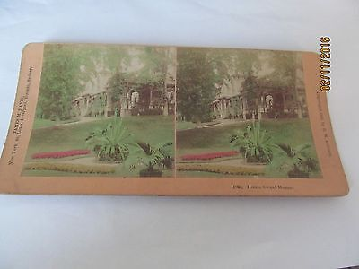 Victorian Stereoview Tinted Colour Home Sweet Home Dated 1888