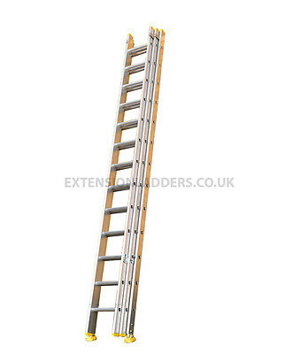 Aluminium Trade EN131 Triple Section Extension Ladders, Direct factory prices