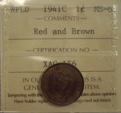 Canada Newfoundland 1941c Small Cent - ICCS MS-63
