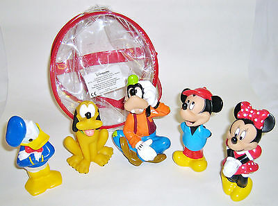 Five EuroDisney Plastic Disney Character Toys, including Micky & Minnie Mouse