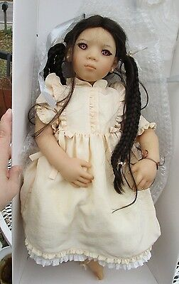 ANNETTE HIMSTEDT LOVELY 1997 AN MEI ASIAN DOLL -with boxes and papers
