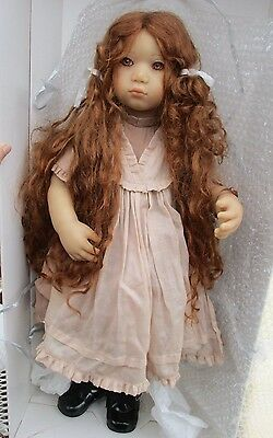 """Annette Himstedt Doll """"Esme"""" 26"""" tall-beautiful-w boxes and papers"""