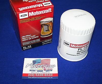 FORD V8 Engine Oil Filter Assembly FORD Motorcraft FL-1A Ryco Z9 Equivalent